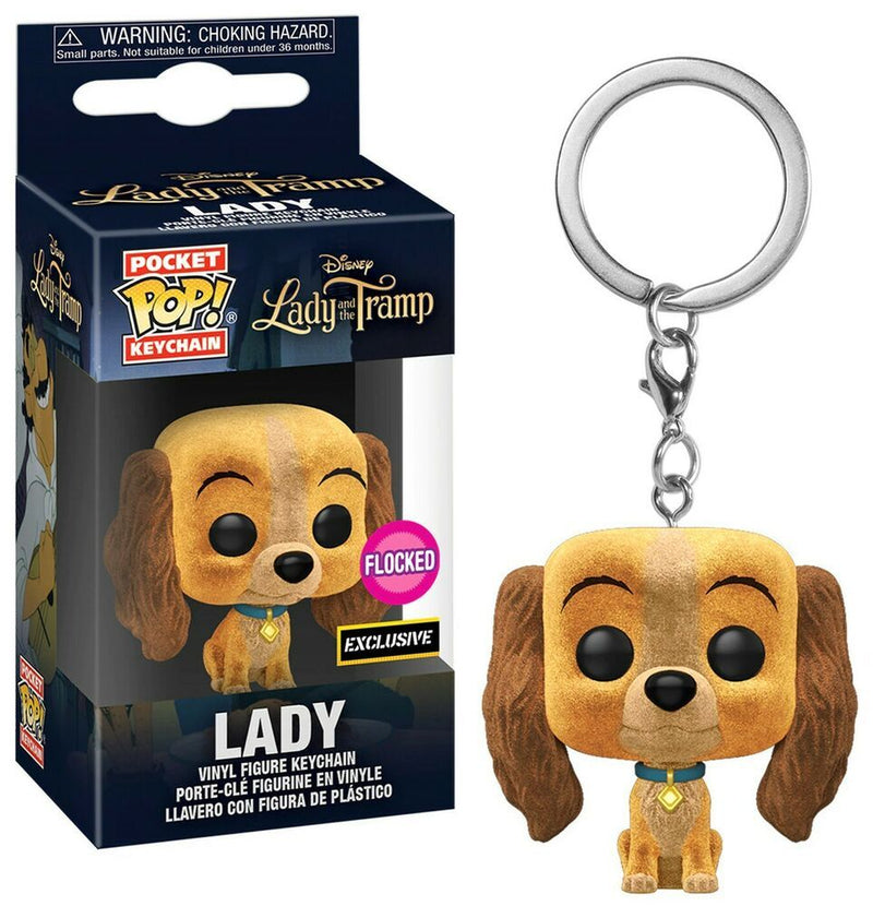 Funko Pocket POP! Keychain Disney Lady and The Tramp Lady Flocked Exclusive
