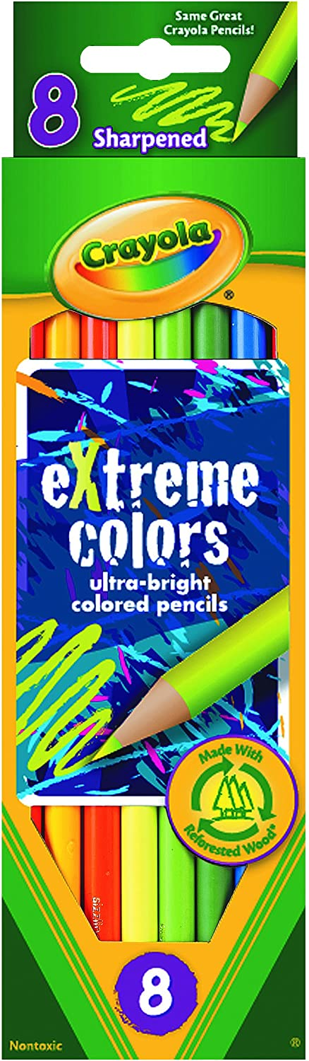 Crayola Pencils 8 Ct Extreme Colors Pencils