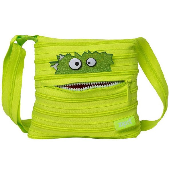 Zipit Bag For Unisex,Green - Crossbody Bags