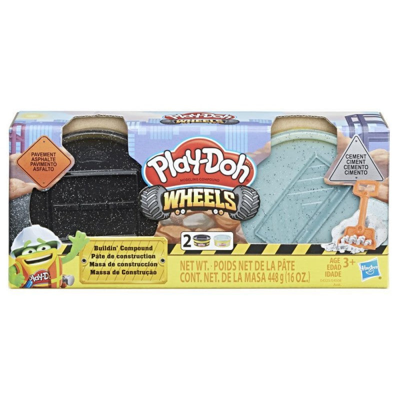 Hasbro Play-Doh Wheels Brick and Stone Building Compound - 2 Pack