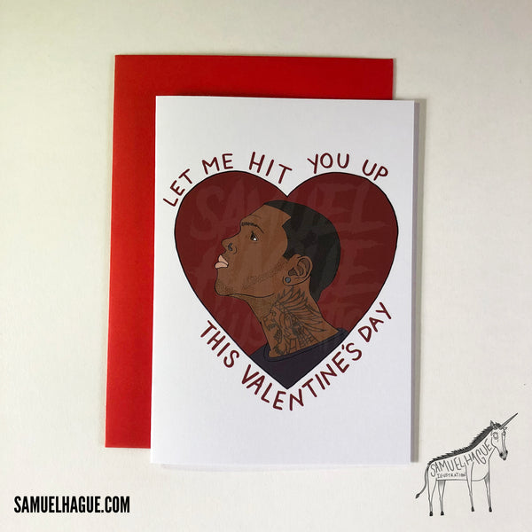 Chris Brown - Valentine's Day Card