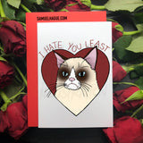 Grumpy Cat - Valentine's Day Card