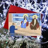 Mary and Joseph on The Jeremy Kyle Show - Christmas Card