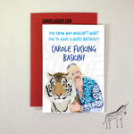 Joe Exotic/Tiger - Birthday Card