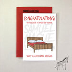 Sleep is Overrated - Baby Arrival Card