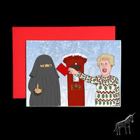 Boris Johnson Posting a Christmas Card - Christmas Card