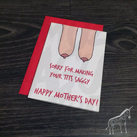 Saggy Tits - Mother's Day Card