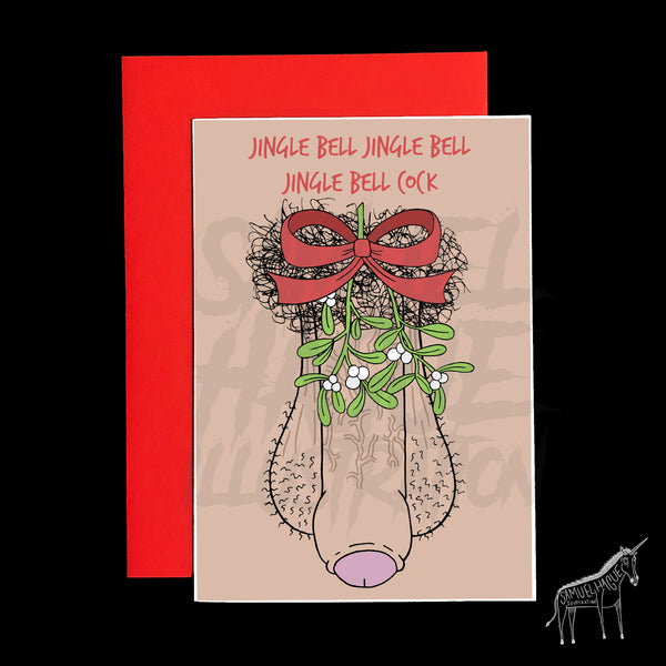 Jingle Bell Cock - Christmas Card