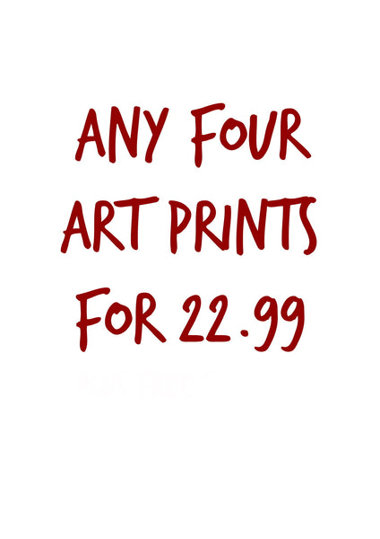 ANY 4 ART PRINTS FOR £22.99