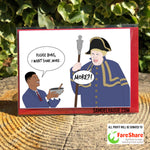 Boris Johnson/Marcus Rashford - Card - In aid of fareshare.org.uk