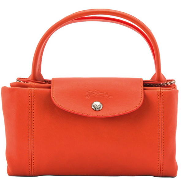 LONGCHAMP - Pliage Cuir - porté main - orange