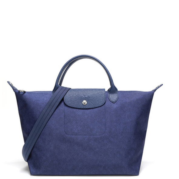 LONGCHAMP - Le Pliage Jean - porté main S - Bleu Denim