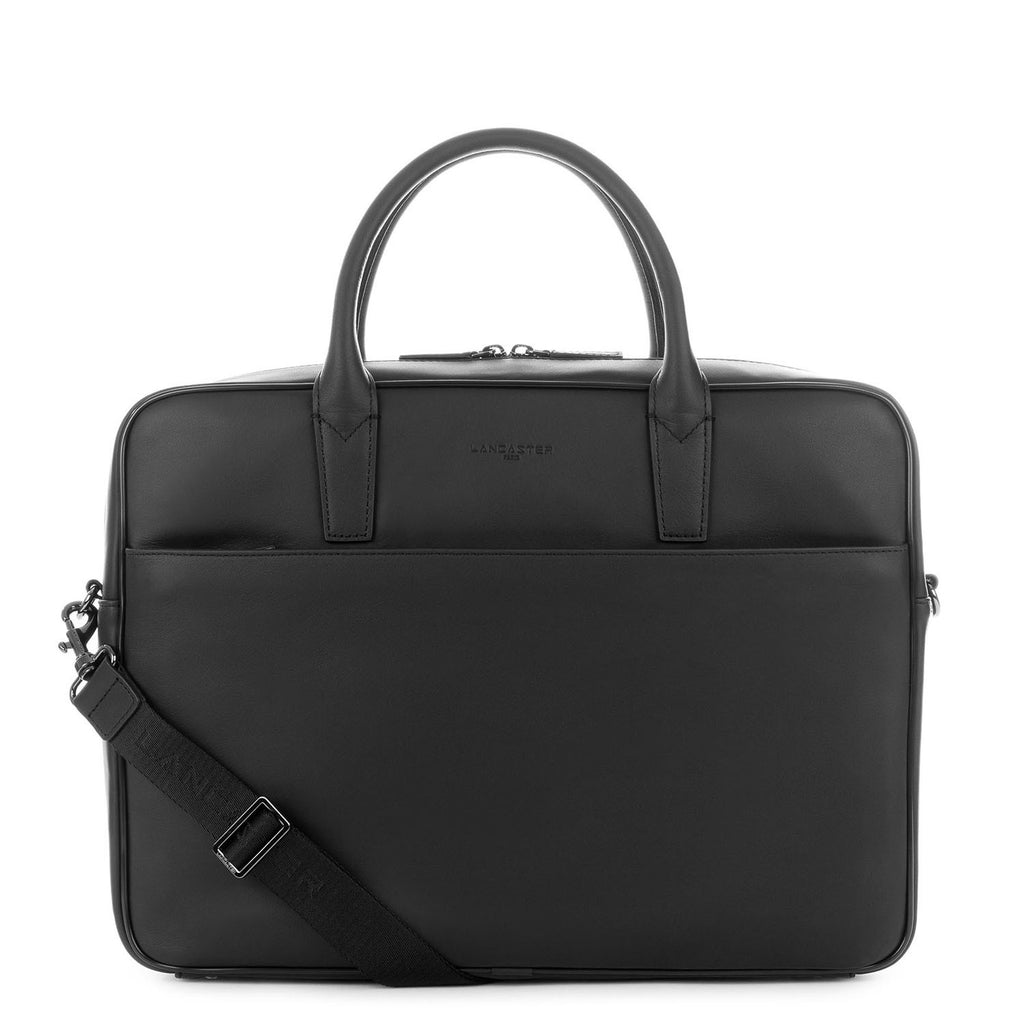 LANCASTER HOMME - Grand porte-documents en cuir - Capital - Noir