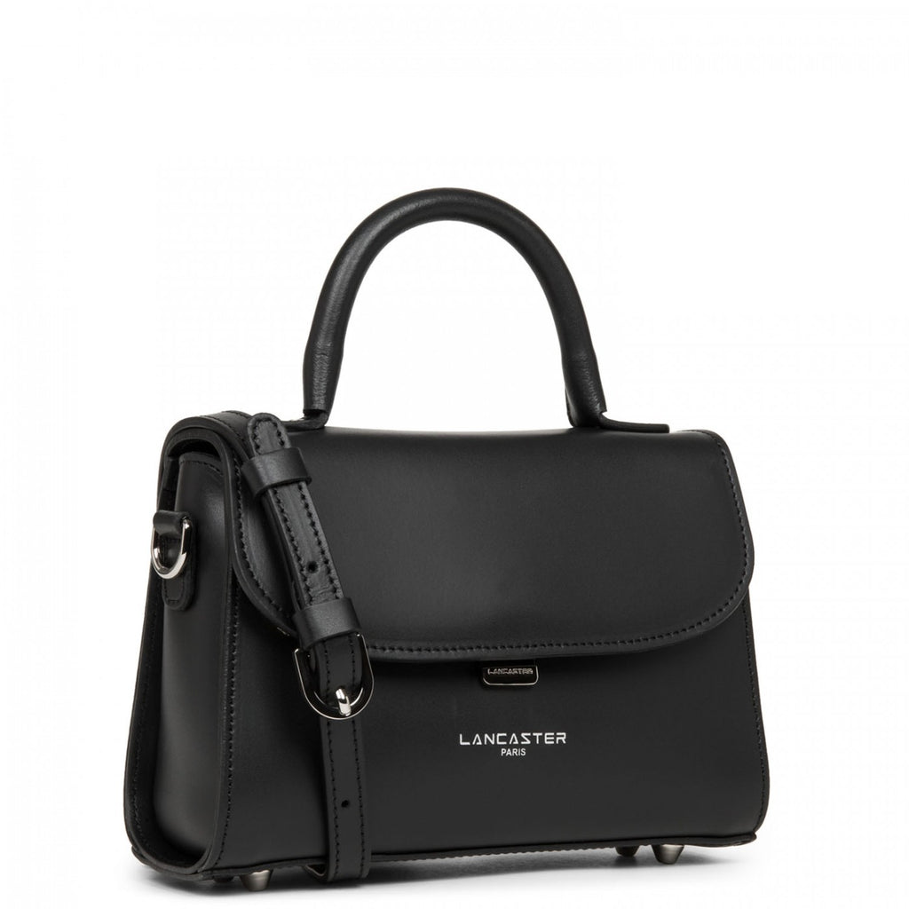 LANCASTER - Mini sac cabas main - Smooth Even - Noir