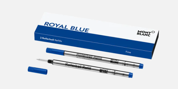 MONTBLANC - Recharges pour Rollerball (F) - Royal Blue