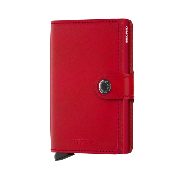 SECRID - Porte-cartes - cuir - rouge