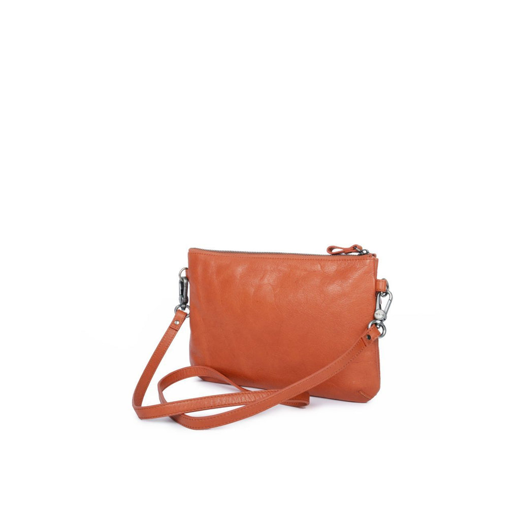 Petit sac Orange - Nat&Nin - pochette porté travers - cuir