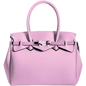 SAVE MY BAG - sac à main en lycra - Miss Plus - Rose clair