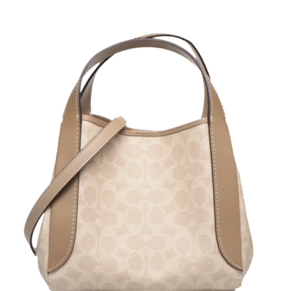 Sac besace  COACH - Hadley 21 - Toile exclusive / Taupe