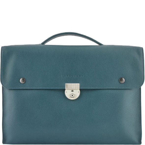 porte documents / serviette Longchamp Homme bleu canard