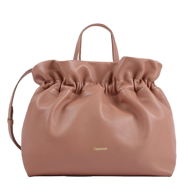 REPETTO - sac porté main en cuir - Studio - rose romance