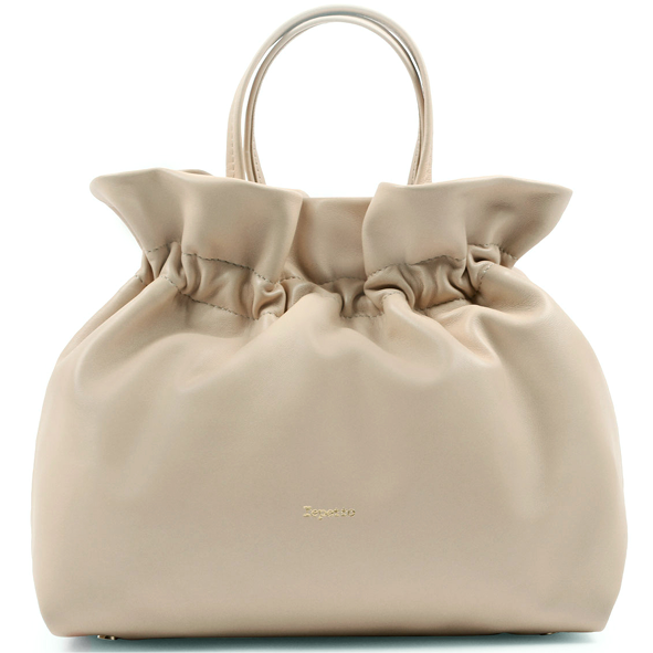 REPETTO - sac porté main en cuir - Studio - beige