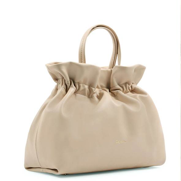 REPETTO - sac porté main en cuir beige - Studio