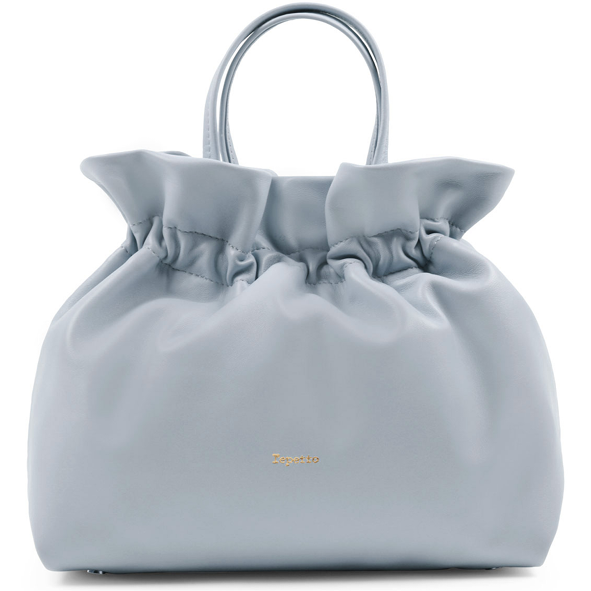 REPETTO - sac porté main en cuir - Studio - Gris