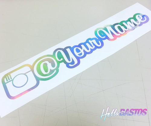 Instagram v2 Outlined Username Decal Custom Pair 9