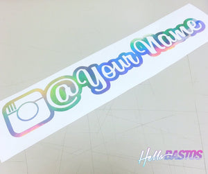 Instagram v2 Outlined Username Decal Custom Pair 9""