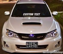 "Custom 32"" In. Auto Car Windshield Decal Banner Car Club Crew Team JDM NEW FONTS"