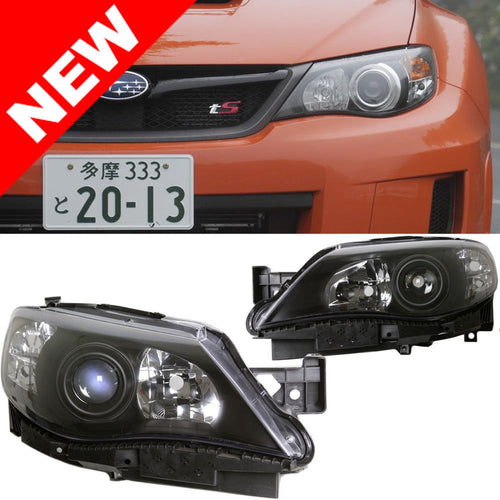 DM Black Projector Headlights For 2008-14 Subaru Impreza/WRX/STI 08-11 Outback