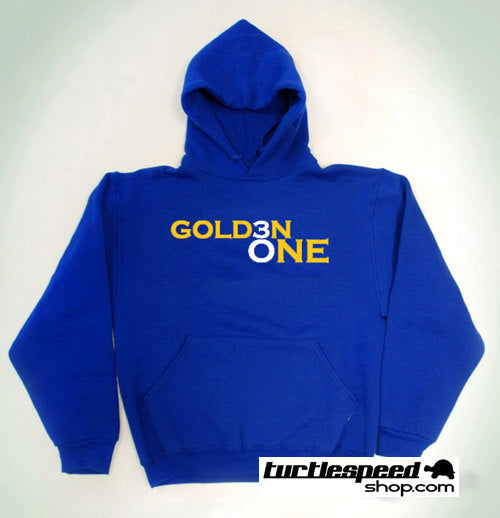 Steph Curry Golden One Blue Yellow Hooded Sweatshirt Warriors NBA