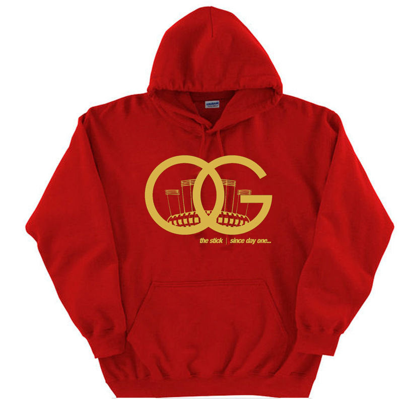 OG Since Day One Candlestick SF 49ers Hoodie Red