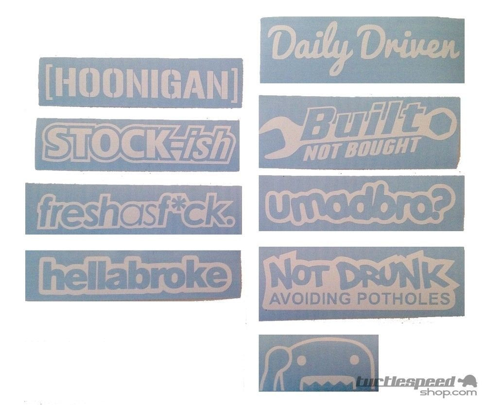Daily Driven Decal Set 7 Piece