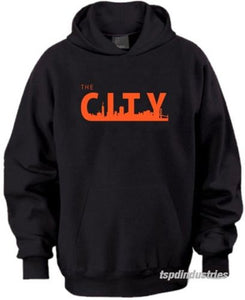 The City San Francisco Hoodie Sweater BLACK Orange SF Giants SFC The Bay