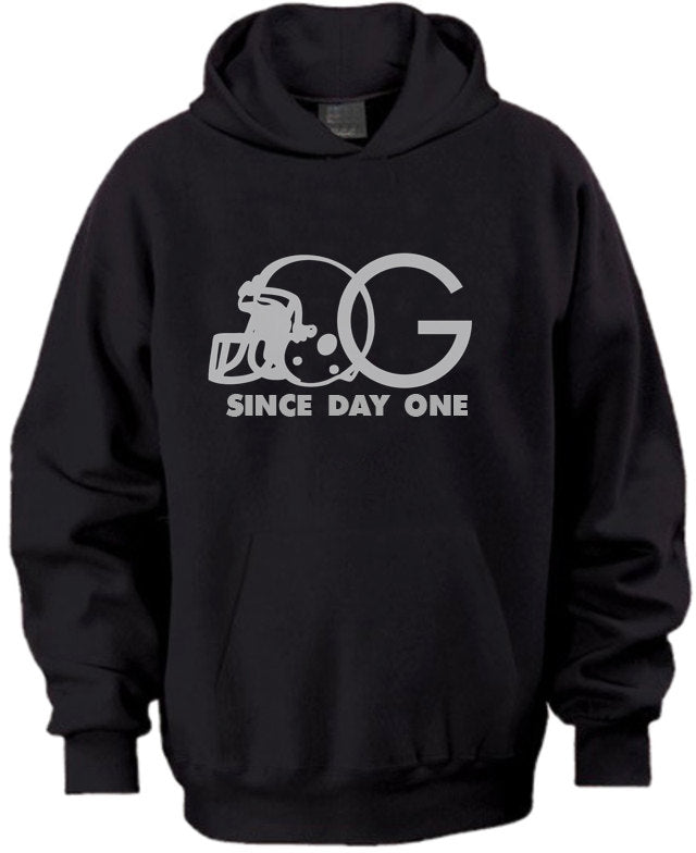 OG Since Day One Oakland Raiders Blackhole Silver Black Hoodie Sweater