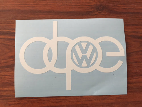 Dope Decal Audi Volkswagen GTI Oracal
