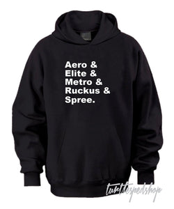 Honda Scooters Black Hoodie Sweater Aero Spree Ruckus Elite Metro 1990s 1980s