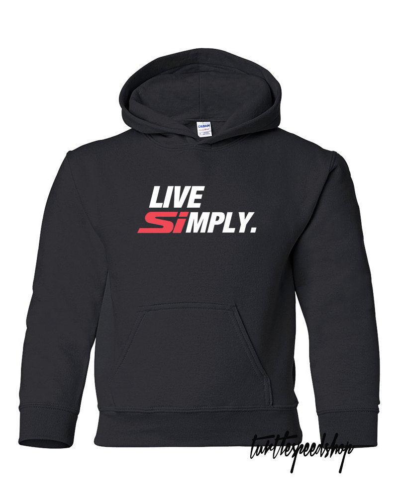 Live SImply Honda Black Hoodie Sweater Type-R EK