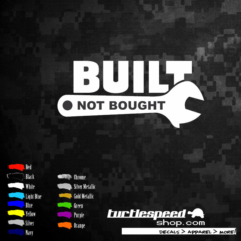 Backyard Built Decal 8x3.5 Oracal High Quality JDM Turbo Static AWD Slammed