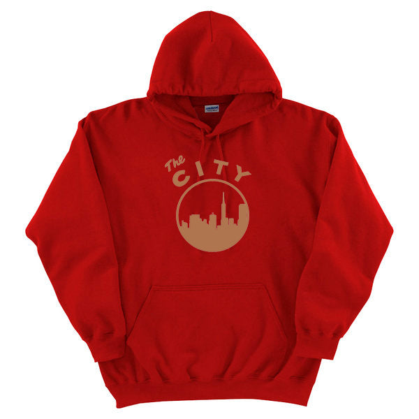 The City (49ers) Hooded Sweater (Red/Gold)