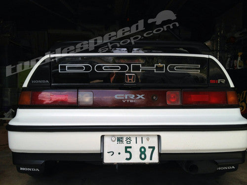 Honda CRX 88-91 DOHC Trunk Glass Decal