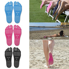 Load image into Gallery viewer, Barefoot Adhesive Foot Pads, Waterproof Anti-skid Invisible Beach Shoes, Stick on Foot Soles, Non Slip Yoga Socks, Summer Activities for Men Women and Kids