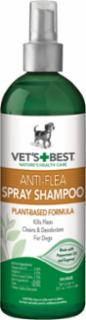 Bramton Company Vets Best Natural Anti-Flea Easy Spray Shampoo 16 oz