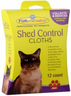 FURminator Cat Shed Control Cloths 12 ct