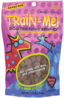 Cardinal Pet Crazy Dog Train Me Beef 4Oz