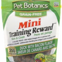 Cardinal Pet Botanics Grain Free Training Rewards Mini Treats - Duck & Bacon 4z