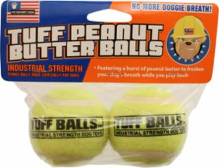 PetSport Tuff Peanut Butter Ball 2pck