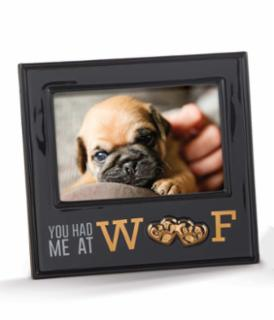AMSCAN  Had Me At Woof Black Picture Frame 7.5